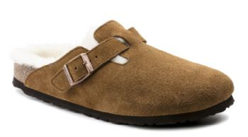 Birkenstock Boston Shearling Suede Leather